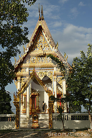 Graceful Buddhist temple
