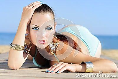 Graceful girl ashore epidemic deathes