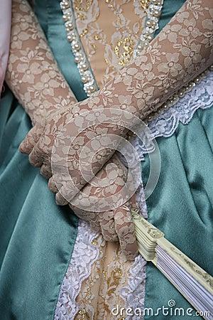 Graceful lady hands