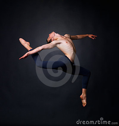 Graceful male dancer performing