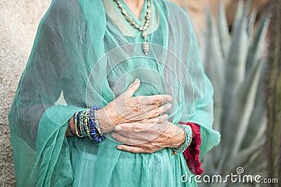Graceful Senior Hands