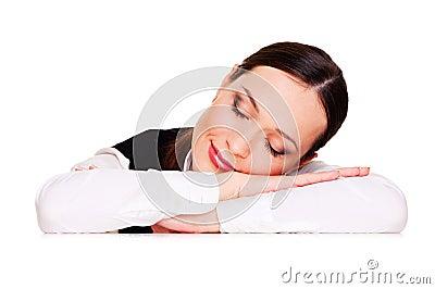 Graceful sleeping student
