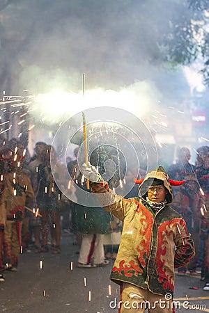 Gracia Fire Run Editorial Photography
