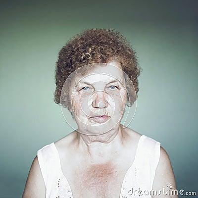 Gracious senior lady portrait