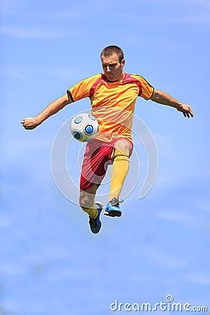 Gracz piłka nożna