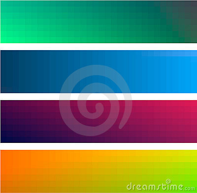 Gradient color banners backgrounds