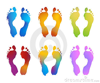 Gradient Color Footprints