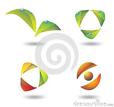 Gradient eco logos