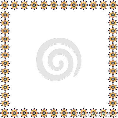 Gradient flower frame