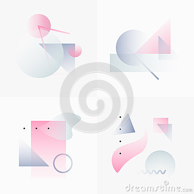 Free Gradient Geometry Forms 04 Stock Image - 84799001