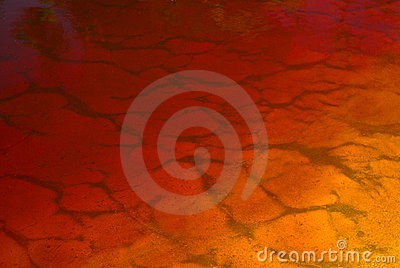 Gradient orange water background
