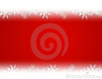 Gradient Red White Christmas Snowflake Background