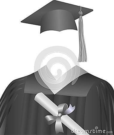 Graduate Cap, Gown, & Diploma