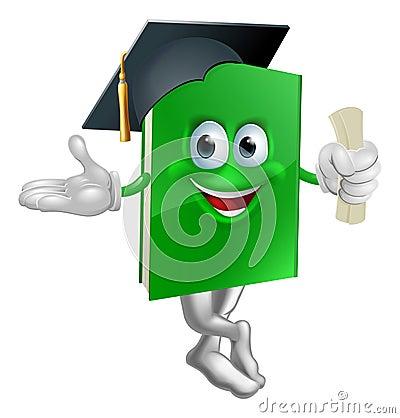 Graduate education book mascot