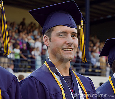 Graduate participating in graduation ceremony