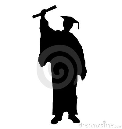 Free Graduate Student Silhouette Royalty Free Stock Photography - 8149987