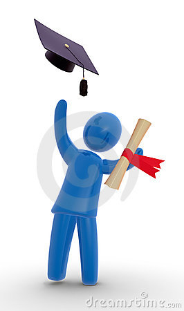 Graduate thorwing hat