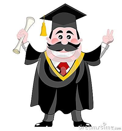 Free Graduated Man Isolated Stock Photo - 25171980