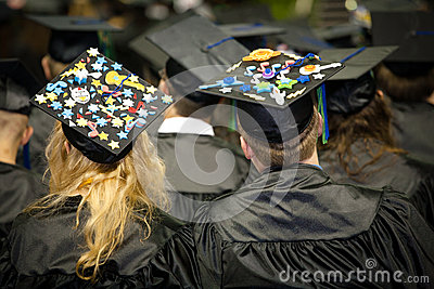 Graduates With Fancy Caps
