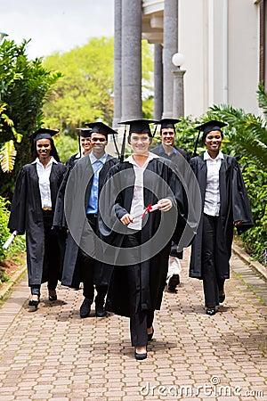 Graduates walking ceremony