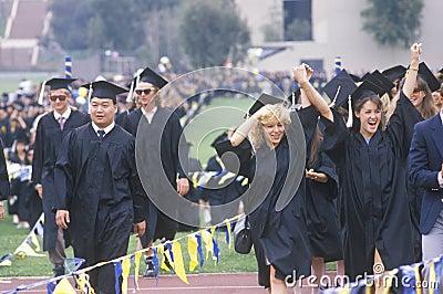Graduating class Editorial Stock Image