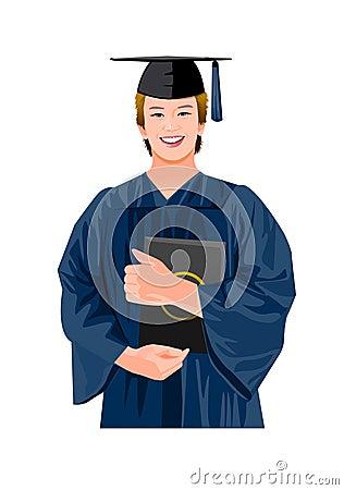 graduating man