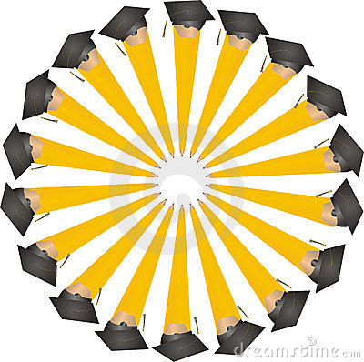 Graduating Pencils in a Circle