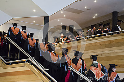 Graduating postgraduate students Editorial Stock Image
