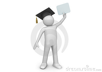 Graduating student / senior with diploma