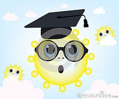 Graduating sun and sky