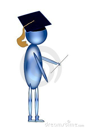 Graduate with mortarboard