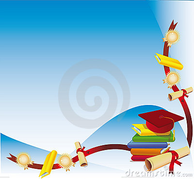 graduation cap and degree stock photography image 3367312
