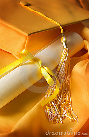 Graduation Cap And Gown Stock Image - Image: 2697691