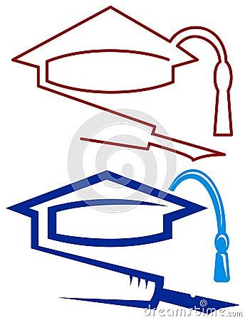 Graduation cap and pen