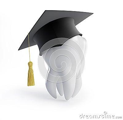 Graduation cap tooth