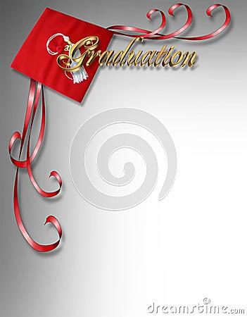 Free Graduation Card Invitation 3D Corner Design Stock Image - 5337771