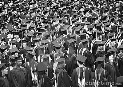 Graduation Day Editorial Stock Photo