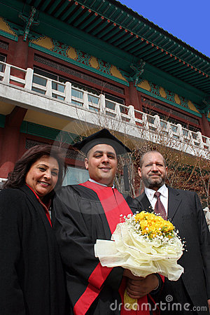 Free Graduation Day For An International Student At An Asian University. Stock Image - 2086241