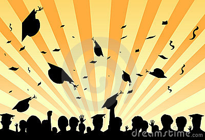 Graduation day party by students