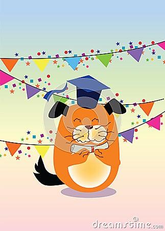 Graduation, dog