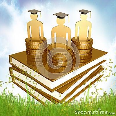 Graduation, education and scholarship icon