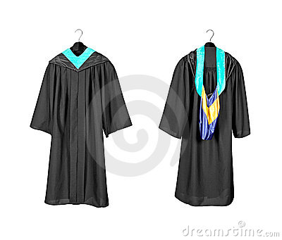 Graduation Gown With Hood Stock Photo - Image: 23269780