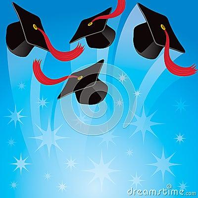 Graduation Hat Background Royalty Free Stock Photo - Image ...
