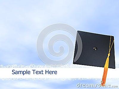 Graduation hat or cap background