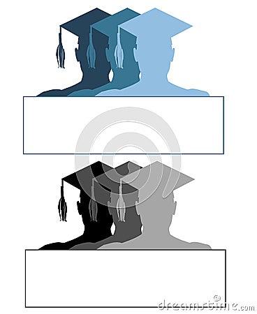 Graduation Hat Logos or Labels