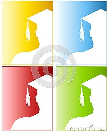 Graduation Hat Silhouettes 2