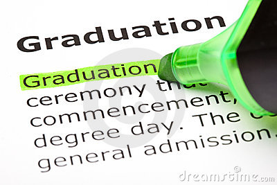 Graduation  highlighted in green