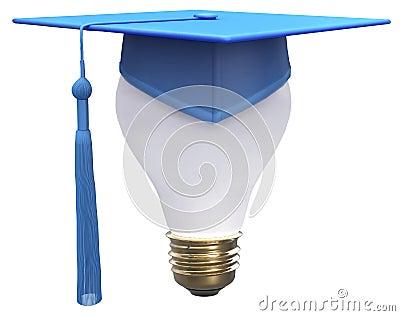 Graduation idea cap light bulb