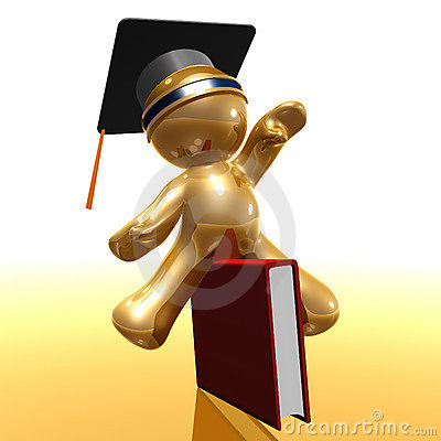 Graduation and knowledge 3d icon