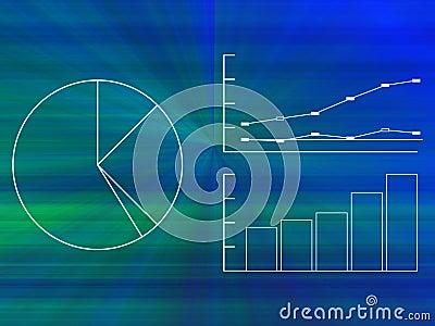 Grafer för affärsdiagram